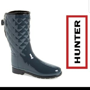 Hunter Quilted Gloss Rain Boots